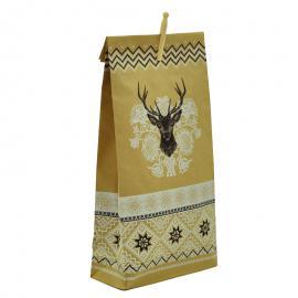 Bedrukte papieren zak rendier met knijper