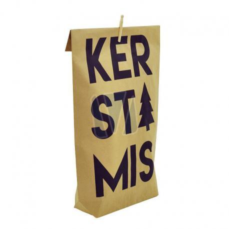 Bedrukte papieren zak Kerstmis met knijper