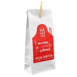 Bedrukte papieren Sinterklaaszak met knijper