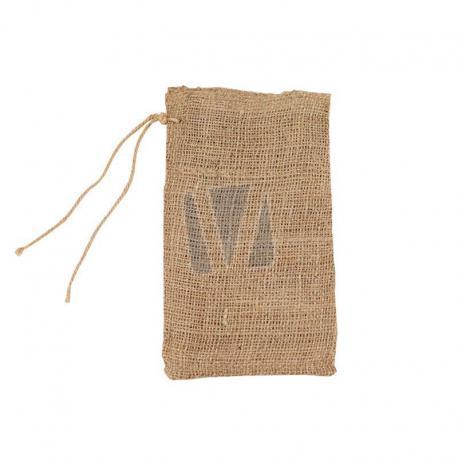 Jute zakken met sluitkoord 15 x 25 cm (per stuk)