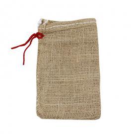 Jute zakken met sluitkoord 10 x 15 cm (per stuk)