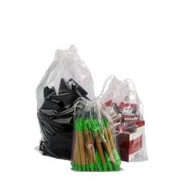 Plastic zakken met sluitkoord
